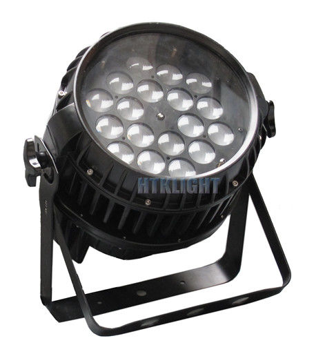 Stage Lighting Waterproof LED Par Light 18x18W 6in1 With Adjustable Zoom Angle
