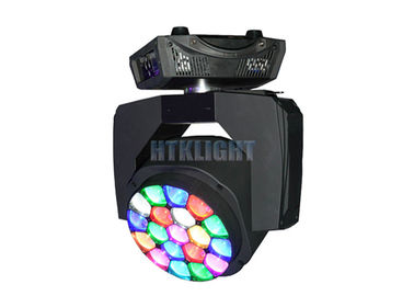 Chiny 19 * 15W RGBW LED Bee Eye Wash Moving Head Disco Lights Strobe 0 - 20 Times / Sec fabryka